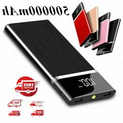 New 500000mAh Power Bank Portable External Phone Battery Hug