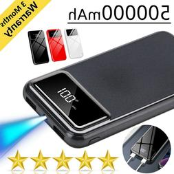 New Portable External Battery Huge Capacity Power Bank 50000