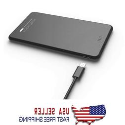 New Ultra Slim 5000mAh Built-In Charging Cable Power Bank fo