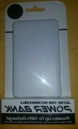 New Power Bank Ultra thin rechargeable 3600mAh white
