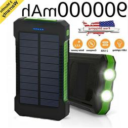 NEW Waterproof 900000mAh Portable Power Bank External Solar