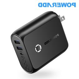 Poweradd 2019 NEW 5000mAh Power Bank 2 IN 1 Dual USB Wall Ch