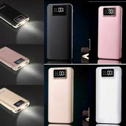 Portable 100000mAh LCD Power Bank External 2 USB Battery Cha