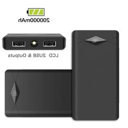 Portable 300000mAh LCD Power Bank 2USB Fast Charging Battery