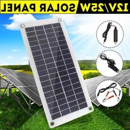 Portable 25W 12V Solar Panel Portable Power Bank Board Exter