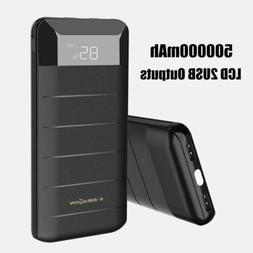 Portable 300000mAh LED Power Bank 3 USB Type-C Battery Charg