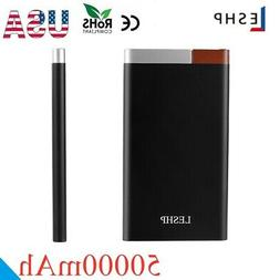 Portable 50000mAh Power Bank For Phone USB Charger 5V 2A 3-P