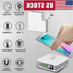 Portable Battery Charger Qi Wireless Fast Charging Power Ban