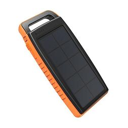 15000mAh Portable Charger Solar Power Bank Dual USB