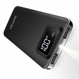 GETIHU Portable Phone Charger 10000mAh LED Display Power Ban