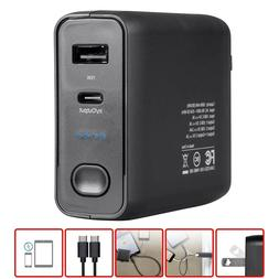 Portable Smartphone Wall Charger & Power Bank 5000mAh 15W Du