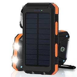 Portable Solar Charger Waterproof Mobile Power Bank 20000mAh