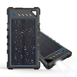 Portable Solar Charger, BEARTWO 10000mAh Ultra-Compact Exter