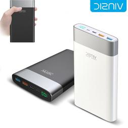 VINSIC Power Bank 20000mAh USB Type C Quick Charge 3.0 Exter