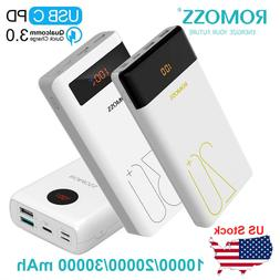 ROMOSS Power Bank 30000mAh QC3.0 Type C PD 18W Dual USB Port