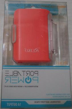 Reiko Power Bank 4000Mah with 25CM Micro USB Cable Retail Pa