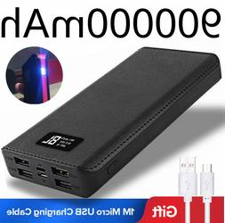 Power Bank 4USB LED&LCD 900000mAh Polymer Battery Fast Charg