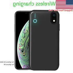 Power Bank Portable Wireless Charger Cover for iphone XS MAX