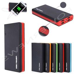 2000000mAh 4 USB External Power Bank Portable LCD LED Charge