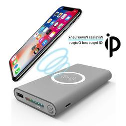Qi 30000mAh Wireless Power Bank For iPhone X 8 Plus Samsung