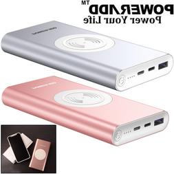 POWERADD Qi Power Bank 10000mAh Wireless Portable Charger Fo