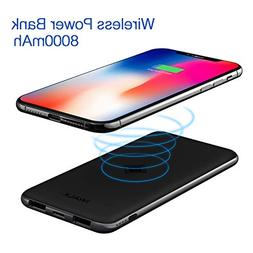iWALK Qi Wireless Charger Dual USB Power Bank 8000mAh Slim P
