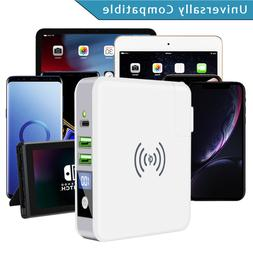 Qi Wireless Fast Charging Charger Power Bank Slim Portable 3