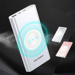 Poweradd Qi Wireless Power Bank 10000mAh Portable Charger US