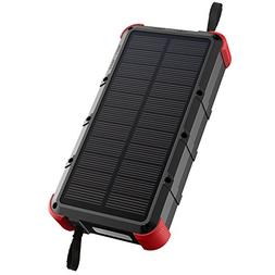 OUTXE 20000mAh Rugged Solar Charger  IP67 Waterproof Power