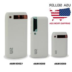 SW Power Bank with USB Charging Cable 6000mAh-9000mAh-12000A
