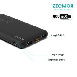 Romoss Slim Power Bank 10000mAh Dual USB External Battery Po
