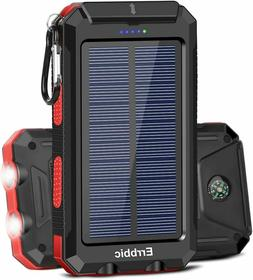 Solar Charger 20000mAh, Portable Phone Charger Mobile Power