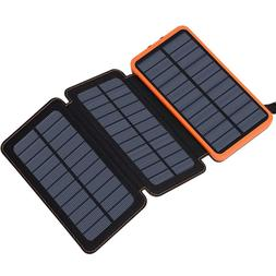 Solar Charger 24000mAh Power Bank With 2 USB Ports 2.1A Fast