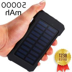 Solar Charger 50000mAh Power Bank Dual USB Fast Charge Best