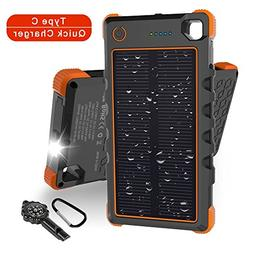 13500mAh Solar Charger, Hobest Portable Charger with Dual O