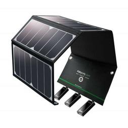 Solar Charger RAVPower 24W Solar Panel with Triple USB Ports