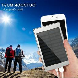 Solar Charger Portable Battery Power bank 30000mAh 20 LED 2