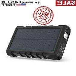 Solar Charger RAVPower 25000mAh Outdoor Portable Charger wit