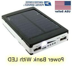 Solar Charger Power Bank For Android and Iphone With LED Cam