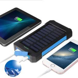 solar mobile power bank 30000mah portable phone