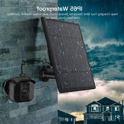 Solar Panel Power Bank Home Security Camera Charger Wall Out