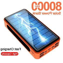 800000mah Solar Power Bank Portable Solar Battery Charger Po