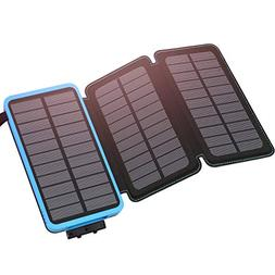 Solar Charger 24000mAh Portable Charger, ADDTOP Waterproof P