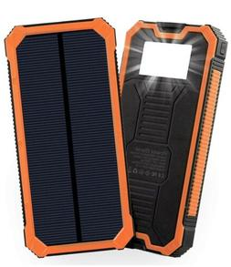 Solar Power Bank Solar Charger External Battery For Phones A