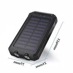 50000mah Solar Power Bank 2 LED 2 USB Battery Charger Waterp