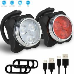 Rechargeable USB LED Bike Bicycle Head and Tail Cycling Fron