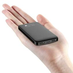 Ultra Compact 5000-mah Dual USB Outputs Super Slim Power Ban