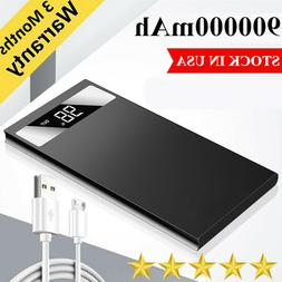 Ultra-thin Portable 9000000mAh Power Bank Fast Charging Exte