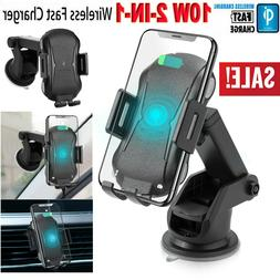 Qi Wireless Fast Charging Car Charger Mount Holder Stand For