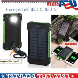 Universal 50000mAh Cell Phone Solar Power Bank Battery Charg